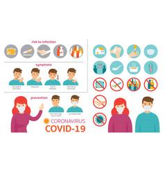 Covid-19 coronavirus infographic vector
