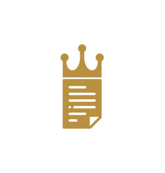 crown document logo icon design vector image
