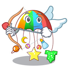 Cupid character hanging toy attached to cot vector