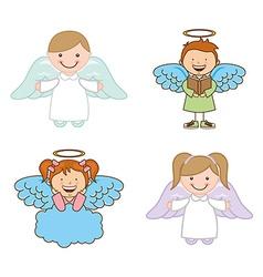 cute angels vector image