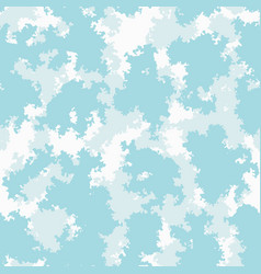 Cute baby room colorful clouds background vector