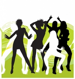 dancing vector image