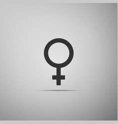 female gender symbol icon on grey background vector image