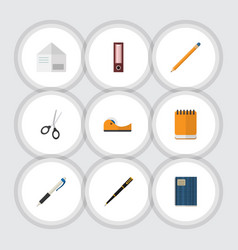 Flat icon tool set of clippers drawing tool vector