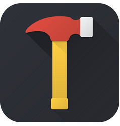 Flat icon toy hammer vector