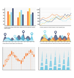 flowcharts business diagrams and charts info vector image