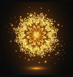 Glitter decorative mandala vector
