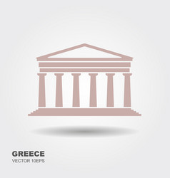Greek parthenon icon isolated on white background vector