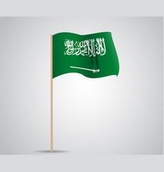 green flag saudi arabia with a sword vector image