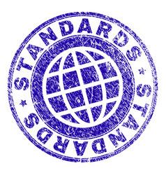 Grunge textured standards stamp seal vector