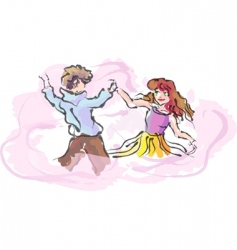 guy and girl vector image vector image