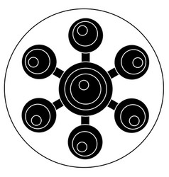Hand spinner with balls on blades vector