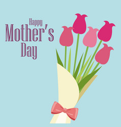 happy mothers day card bouquet roses vector image