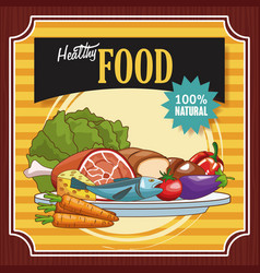healthy food poster vector image