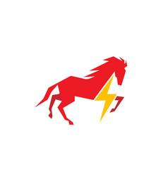 horse flash logo vector image