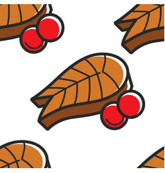 iceland fish with cherry tomatoes seamless pattern vector image