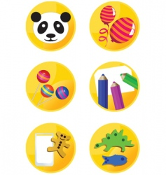 icons children vector image