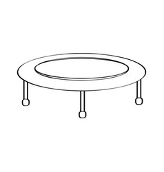 isolated trampoline icon vector image