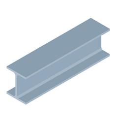 Isometric steel beam vector