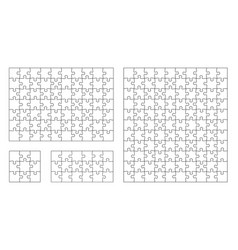 jigsaw puzzle 10x11 square piece template vector image