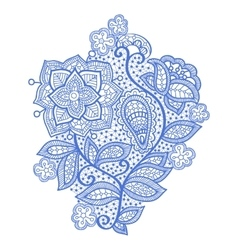 Lace flowers elements vector