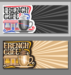 Layouts for french cafe vector