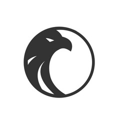Logo black circle eagle logo template vector