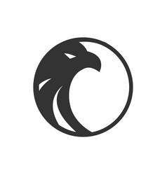 logo black circle eagle template vector image