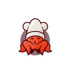 mascot octopus vector image
