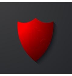 modern shield icon on gray vector image