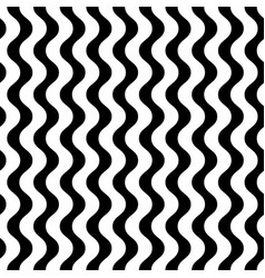 Monochrome seamless pattern vertical wavy lines vector