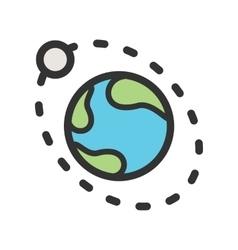 Moons Orbiitting Earth vector