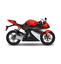 Motorcycle red sport bike vector