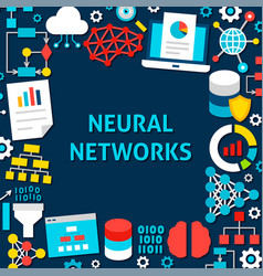 neural network paper template poster vector image