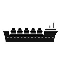Oil tanker ship icon simple style vector
