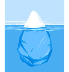 One iceberg in water vector