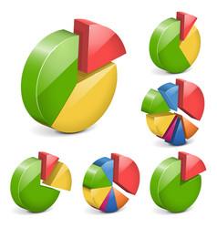 pie charts vector image