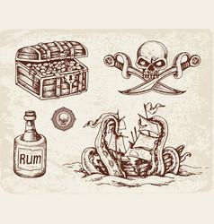 pirates design elements vector image
