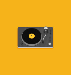 player for vinyl record music flat vector image