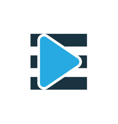 Playlist colorful icon symbol premium quality vector