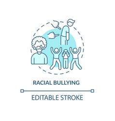 Racial bullying concept icon vector