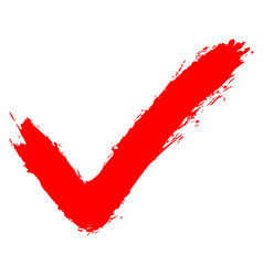 red check mark sign addition icon vector image