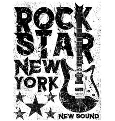 Rock star vintage and roll typographic vector
