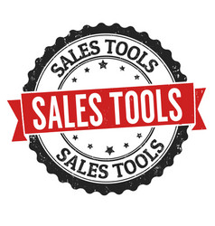 sales tools grunge rubber stamp vector image