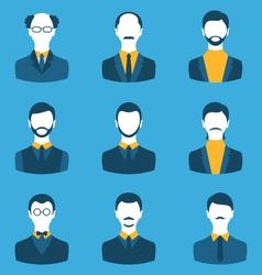 set business people front portrait males vector image