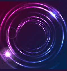 shiny glowing neon colorful circles abstract vector image