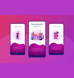 smartphone addiction app interface template vector image