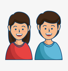 smiling people icon vector image