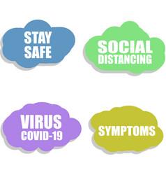 Social distancing against coronavirus icon vector