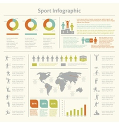 Sport infographic template chart vector
